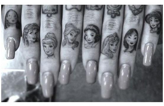 Los 13 mejores tatuajes de Princesas Disney