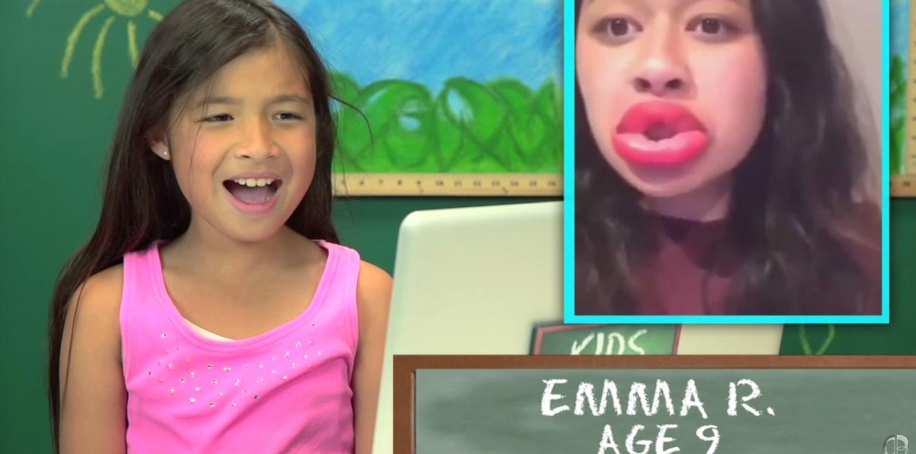 ¿Cómo reaccionan los niños ante el #KylieJennerLipChallenge?