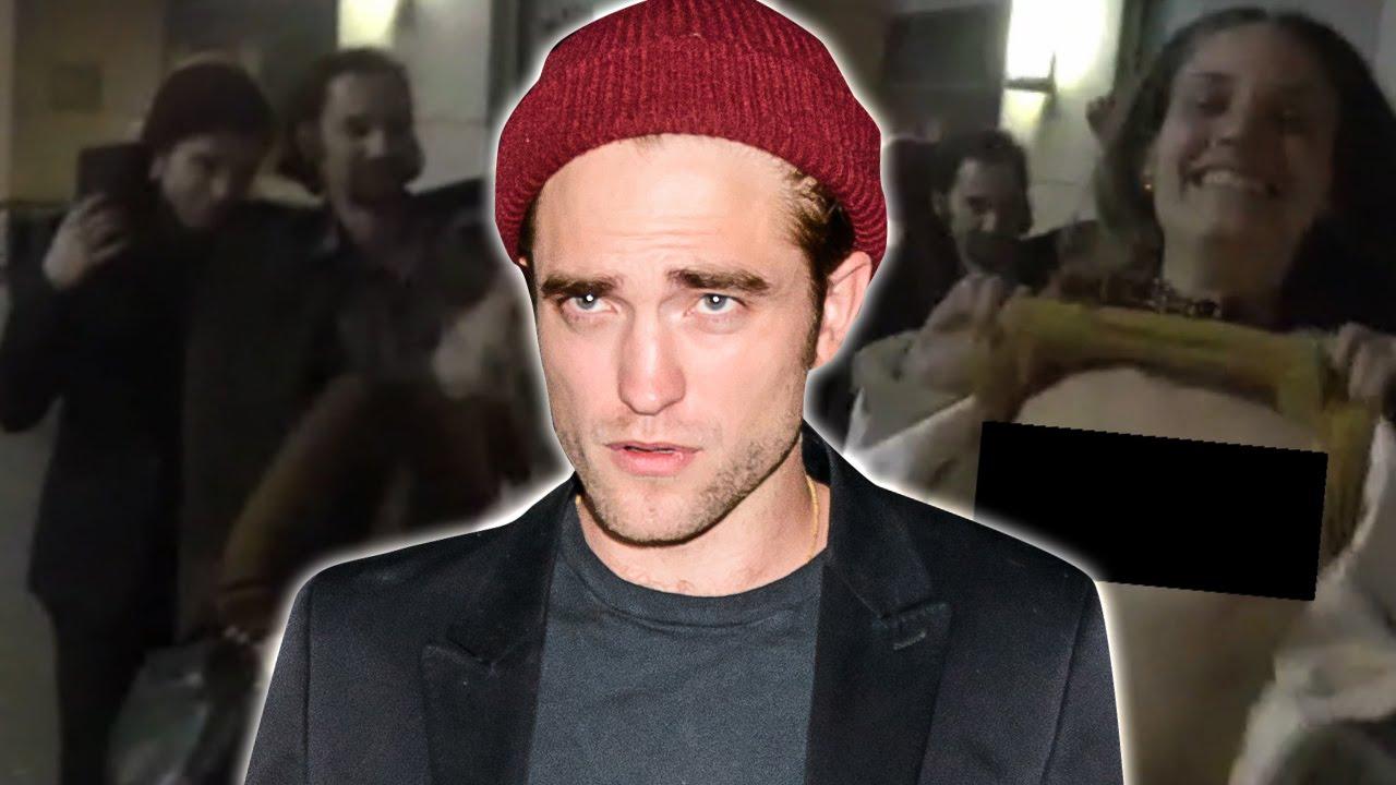 Una amiga de Robert Pattinson enseña los pechos para evitar que lo graben a él