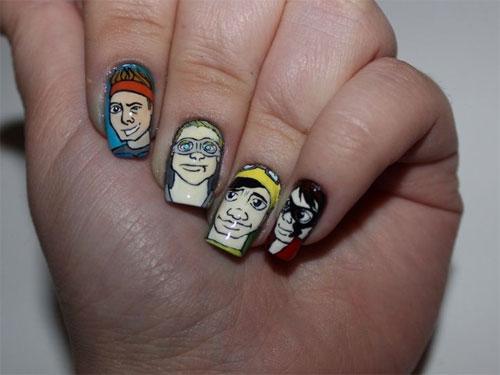 Los mejores diseños de uñas dedicados a 5 Seconds Of Summer