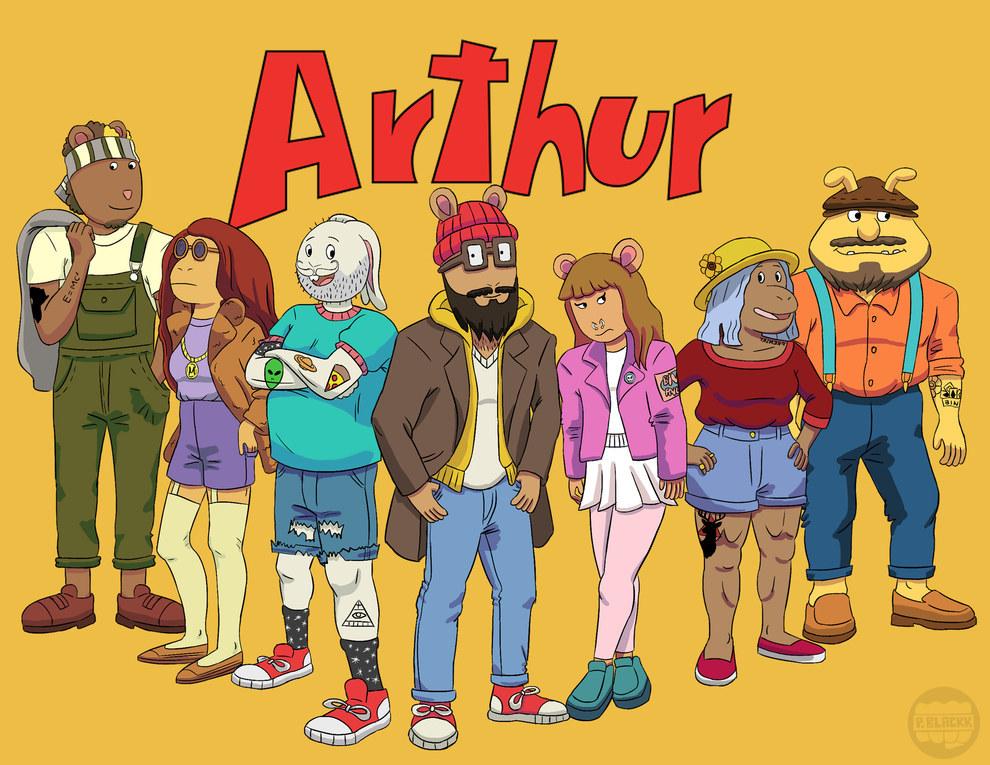 ¿Cómo serían los personajes de Arthur en la actualidad?