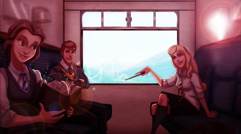 ¡Flipa con los personajes Disney como si fueran estudiantes de Hogwarts!