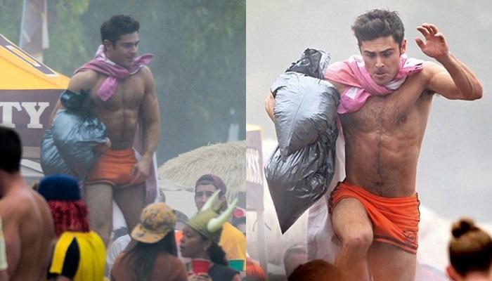 Zac Efron vuelve a desnudarse en el rodaje de su nueva película