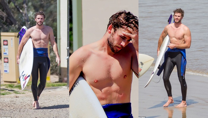 Las mejores fotos de Liam Hemsworth surfeando