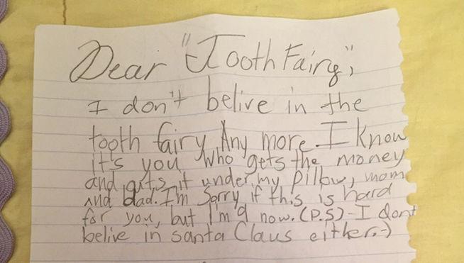 Esta carta de una niña de 9 años a sus padres nos deja... ¡sin palabras!