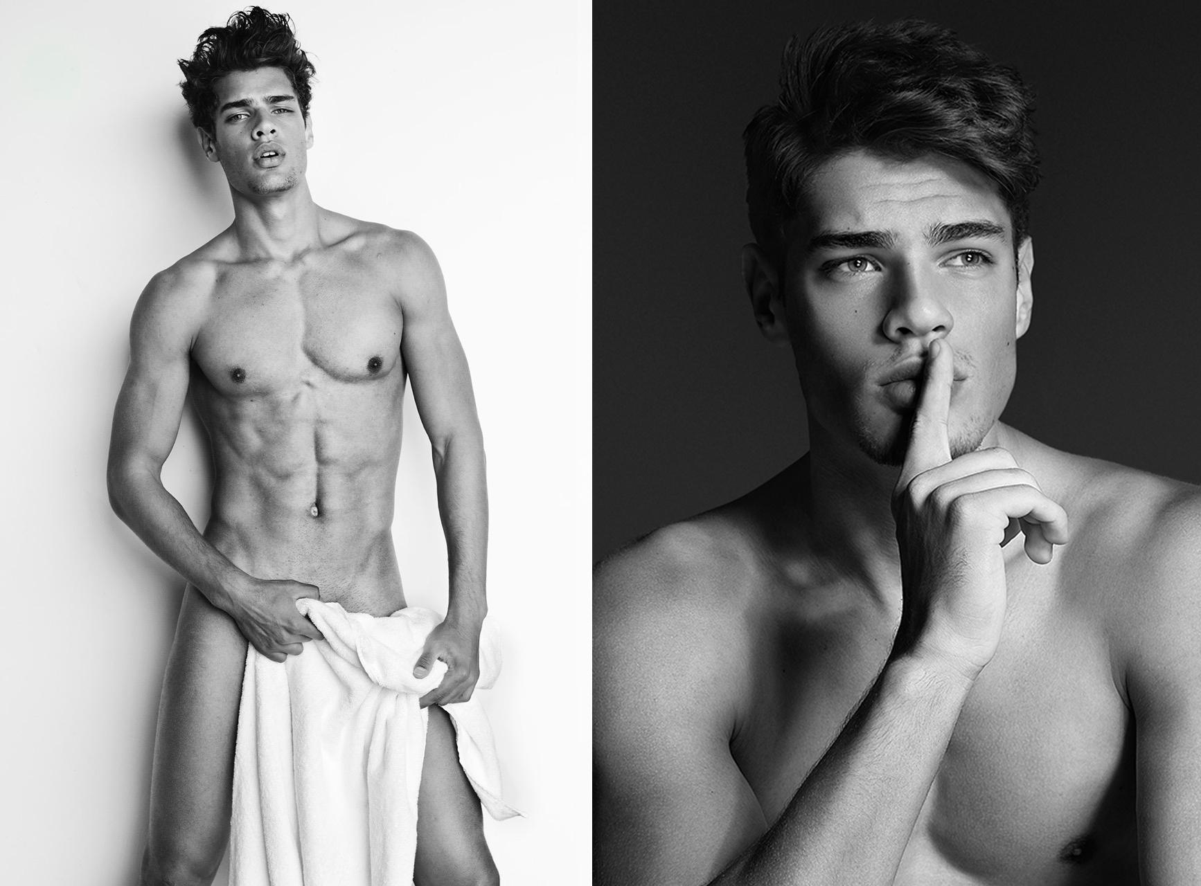 El brasileño Lucas Loyola desnudo