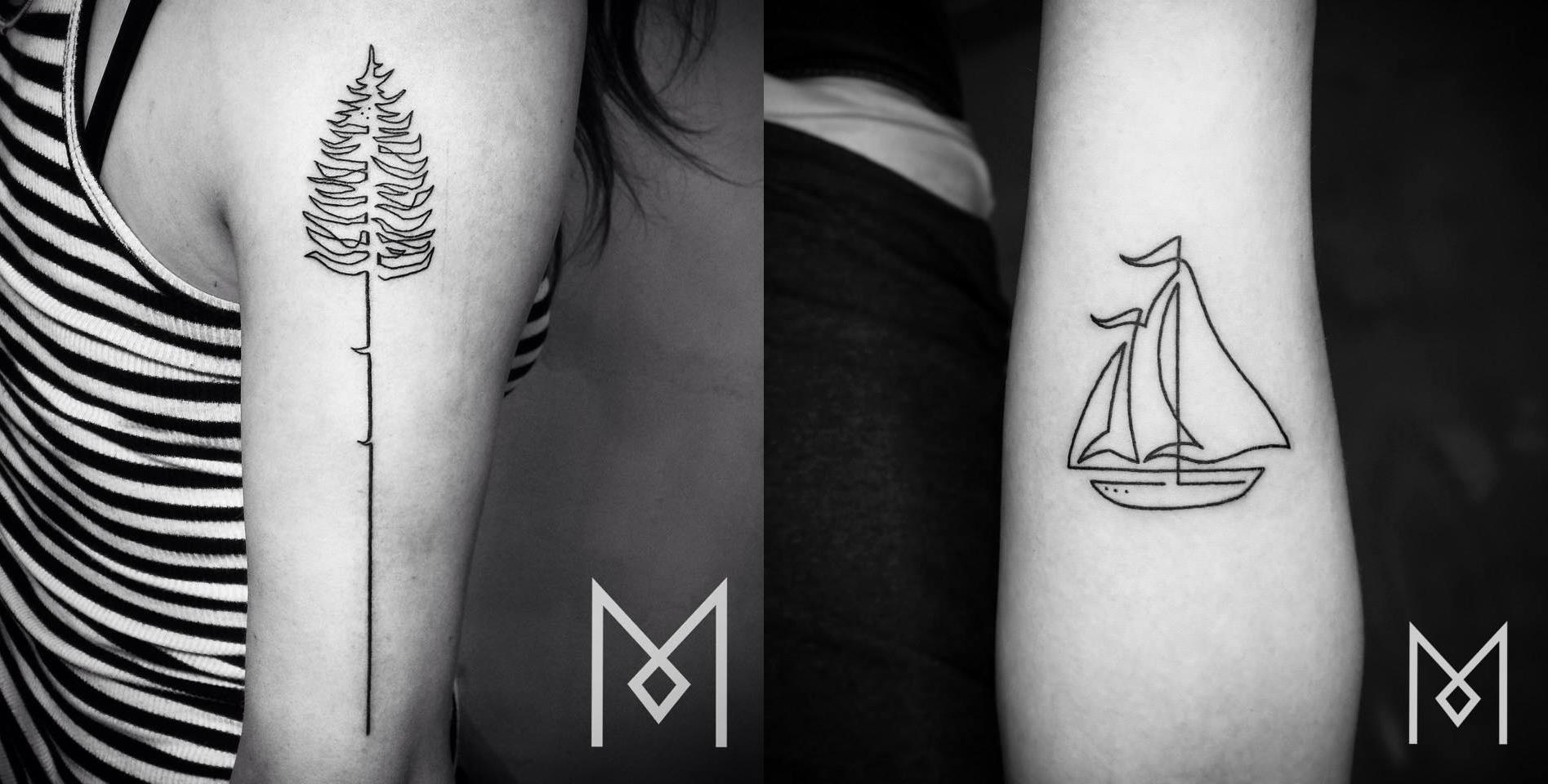 Tatuajes increíblemente bonitos hechos con una sola línea
