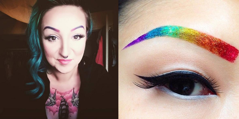 Teñirse las cejas de colores fantasías: la última moda