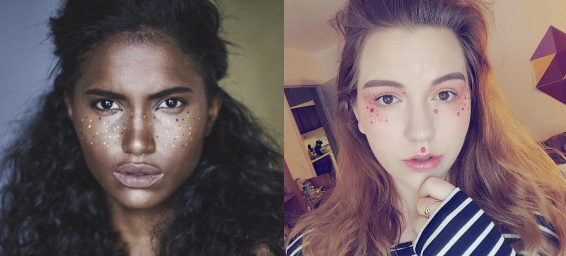 Las pecas de colores son la nueva tendencia que arrasa en Instagram
