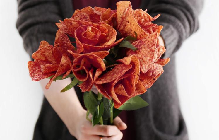 Este ramo de Doritos es todo lo que querrás por San Valentin
