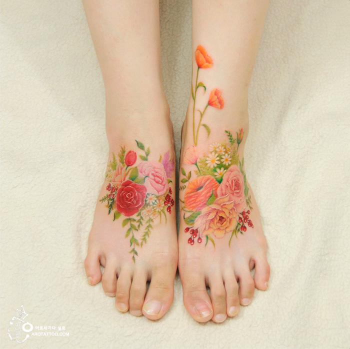 Este estudio hace tatuajes que parecen acuarelas