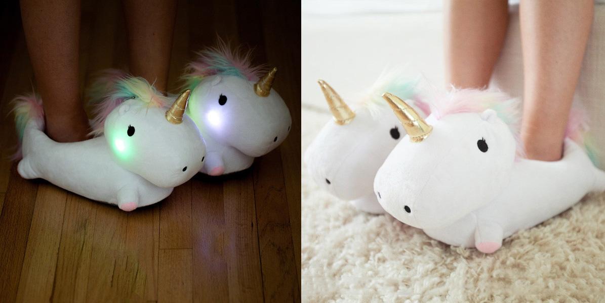 Necesitas estas zapatillas de unicornios que se iluminan y lo sabes