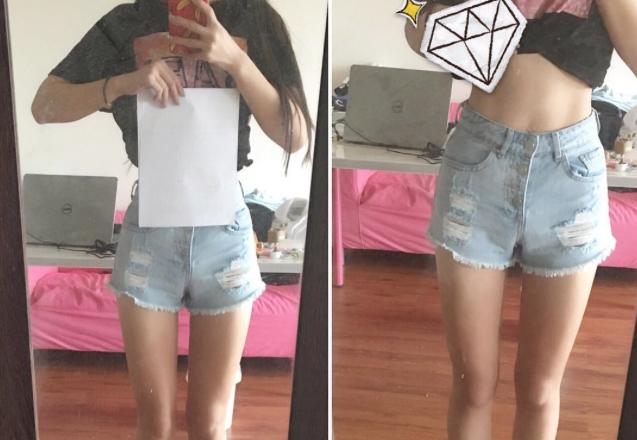 La peligrosa moda de medirse la cintura con un folio