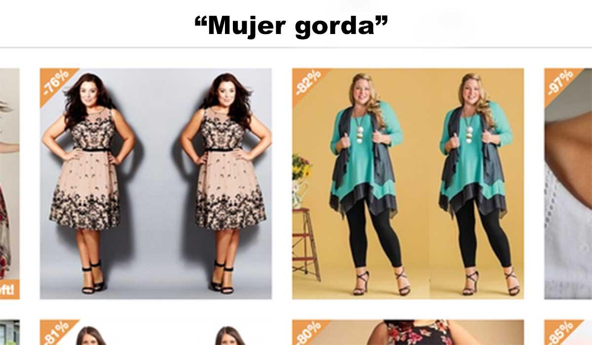 """Esta web dice vender ropa para """"mujeres gordas"""""""