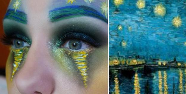 Esta chica convierte su cara en obras de arte gracias al maquillaje
