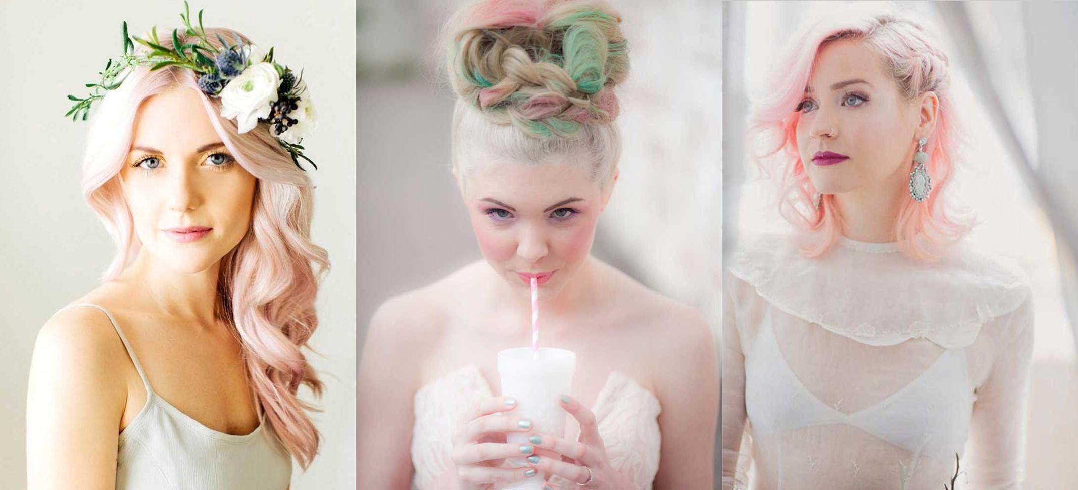 15 novias que arrasaron en su boda con el pelo de colores