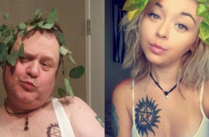 Este padre se ríe de los selfies sexis de su hija de la mejor forma posible
