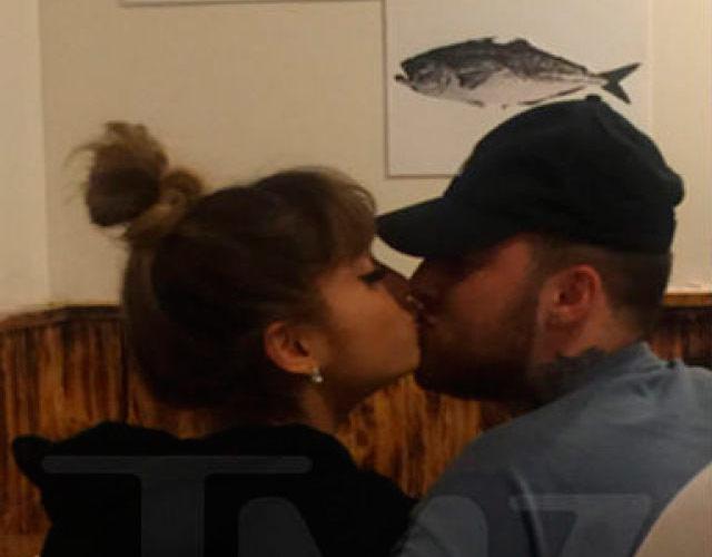 Ariana Grande y Mac Miller, pillados besándose