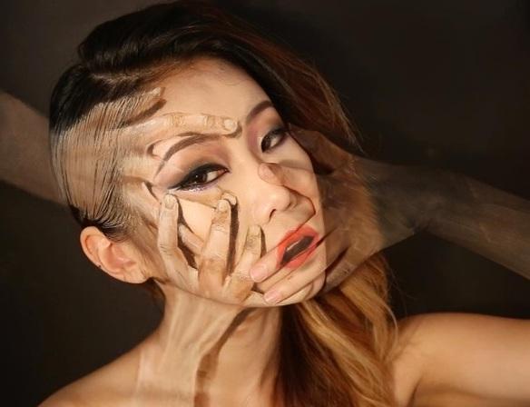 Esta artista crea ilusiones ópticas con maquillaje y son increíbles
