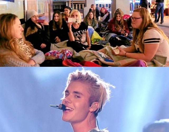 Llevan un mes haciendo cola para ver a Justin Bieber en Madrid