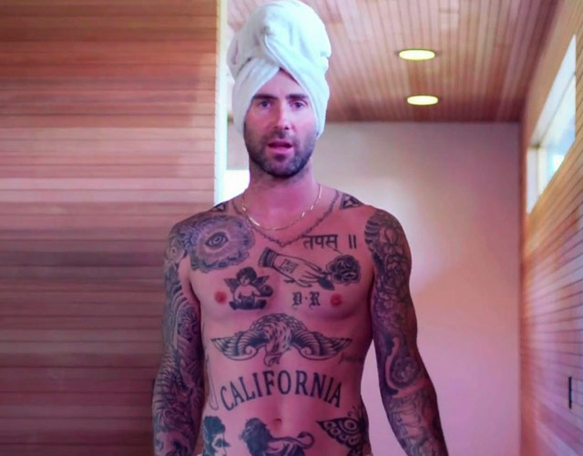Adam Levine sin camiseta en la final de 'The Voice'