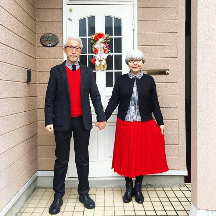 pareja japonesa viste a juego