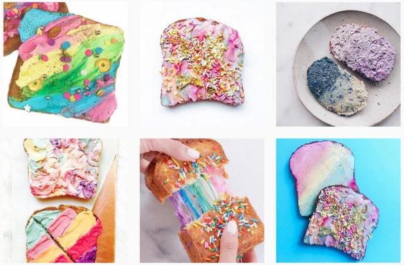 Las tostadas de unicornio... ¡el desayuno de moda!
