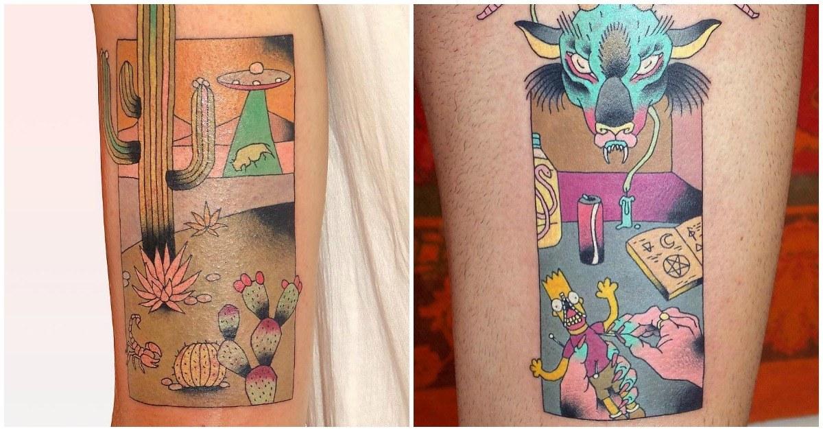 Este tatuador hace las mezclas más locas en sus dibujos, ¡y todos son geniales!