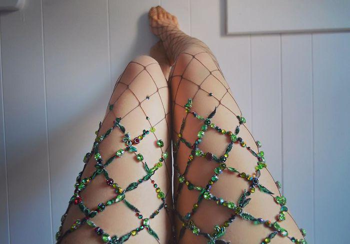 Tú también desearás tener estas increíbles medias de flores