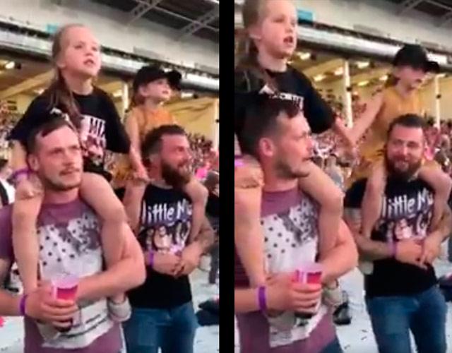 Little Mix dan las gracias a estos adorables padres que fueron a su concierto con sus hijas