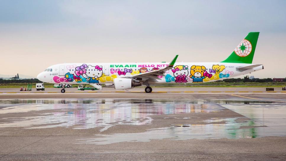 Esta compañía ofrece vuelos únicos inspirados en Hello Kitty
