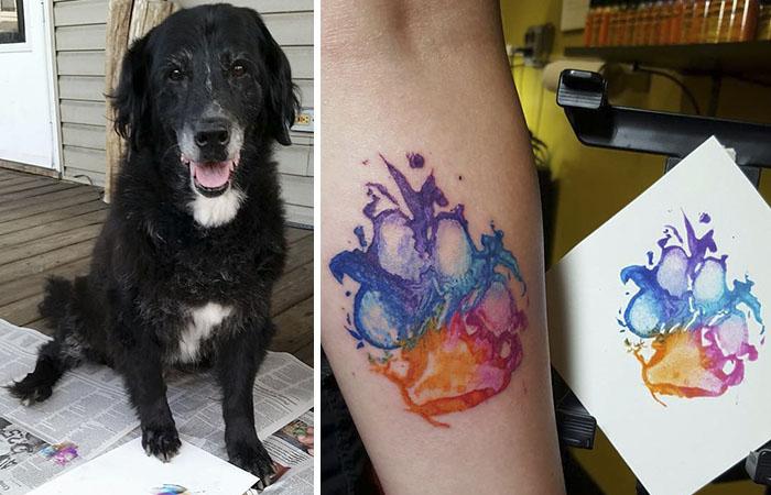 Los dueños de perros se están tatuando sus huellas y es así de adorable