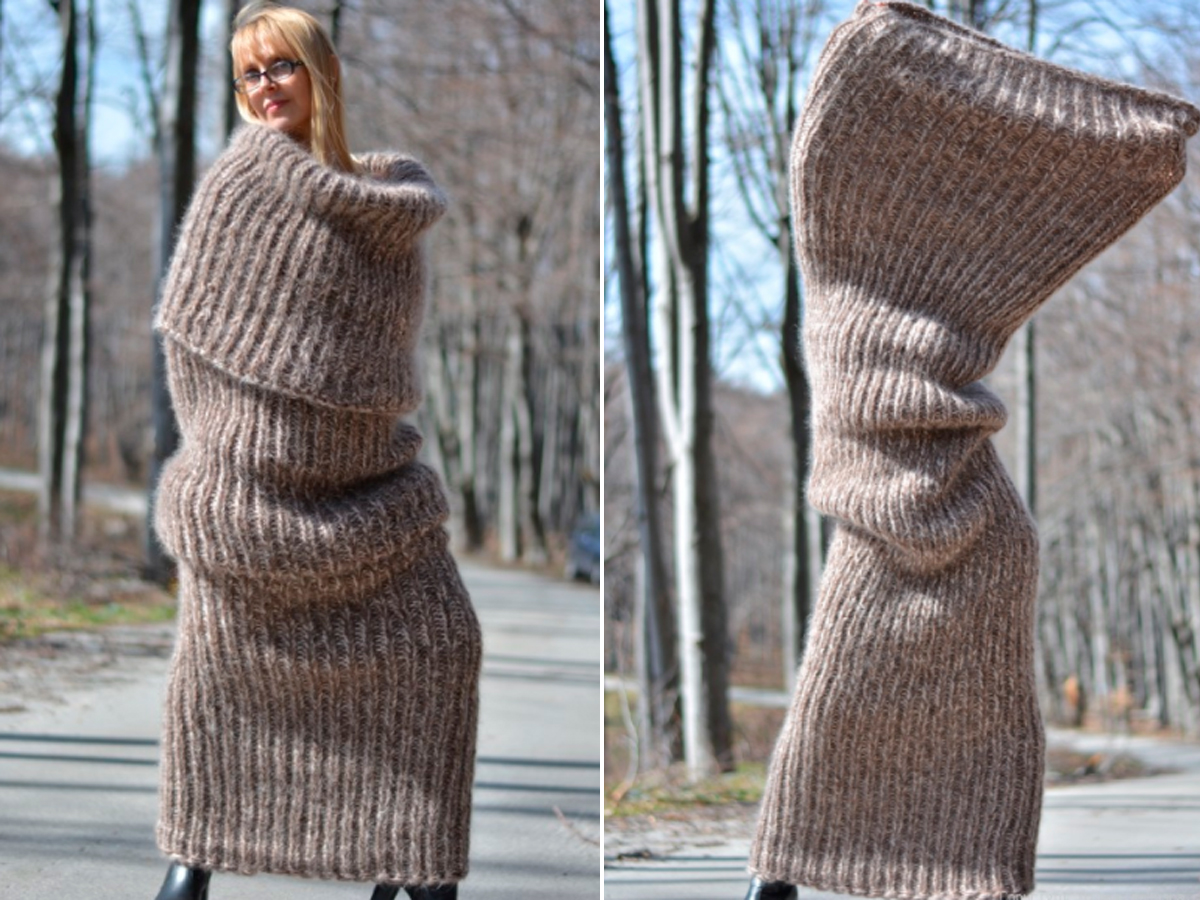 Bufanda + abrigo: así es el 'bufabrigo'
