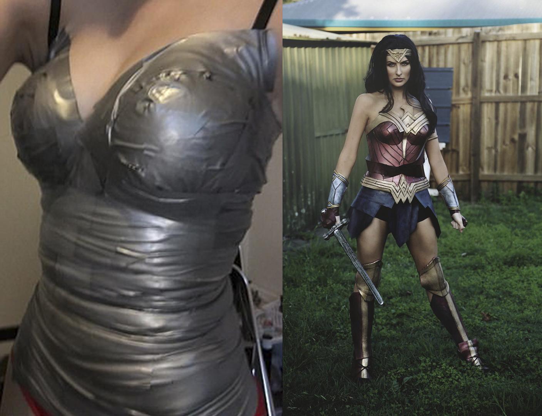 disfraz casero wonder woman
