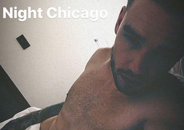 Liam Payne sin camiseta en Instagram