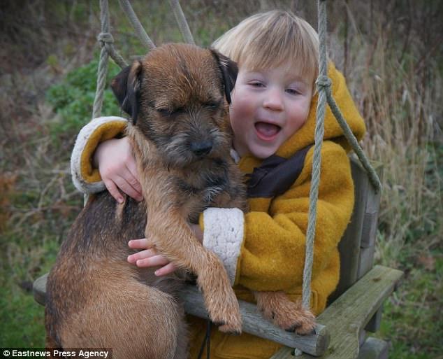 El emotivo reencuentro de un niño con su perro desaparecido