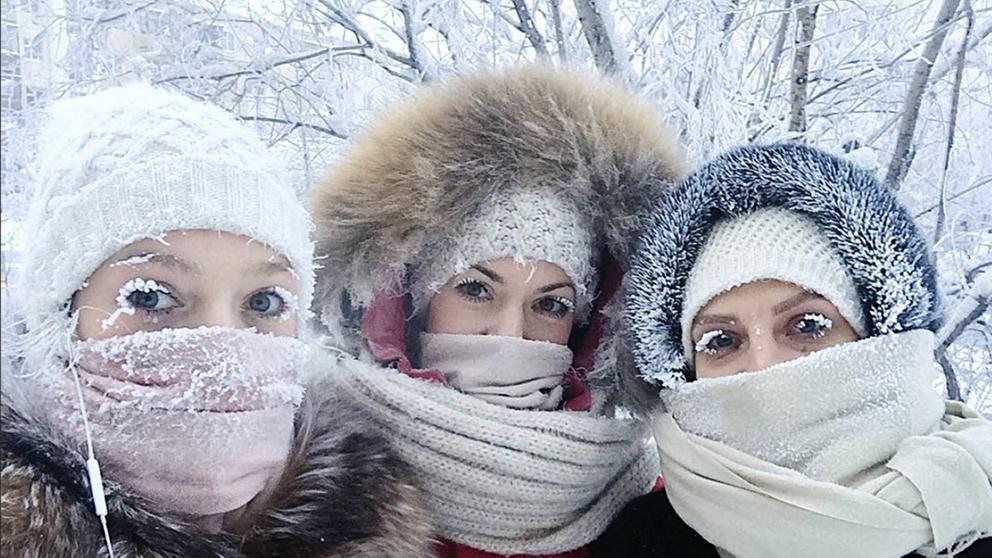 selfies en el pueblo mas frio del mundo