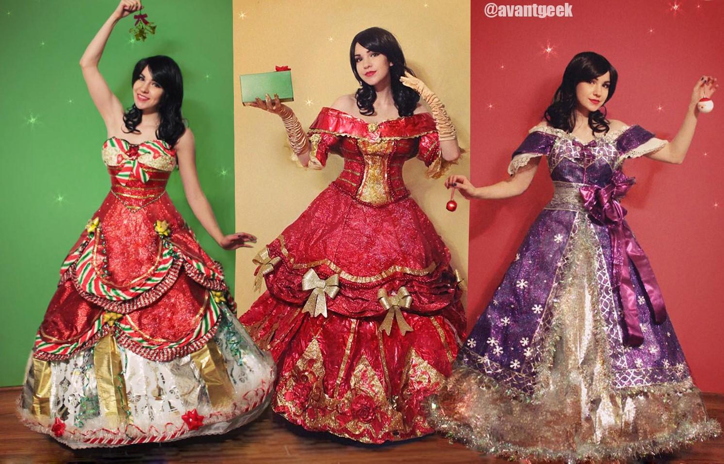 Esta chica hace increíbles vestidos con papel de regalo