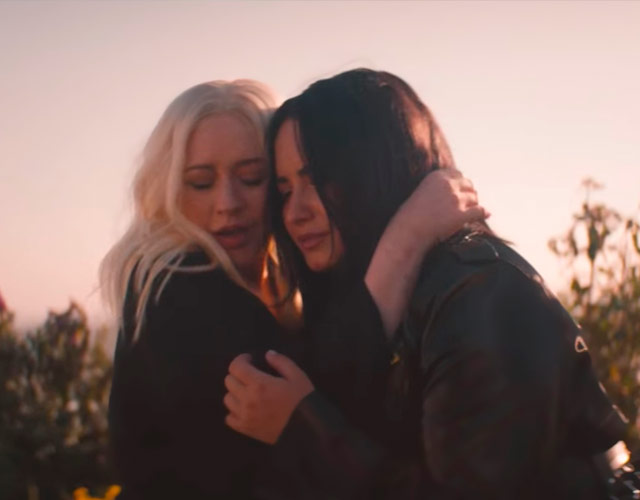 Vídeo de Demi Lovato y Christina Aguilera para 'Fall In Line'