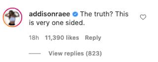 Addison Rae describes
