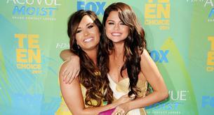 Selena Gómez y Justin Bieber en el concierto de Demi Lovato