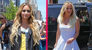 Demi Lovato y Britney Spears llegan al 'X Factor' de Kansas City