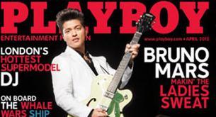 Bruno Mars es portada en la revista Playboy