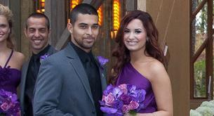 Demi Lovato de boda con su novio Wilmer Valderrama