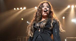 Demi Lovato en su concierto en Nueva York