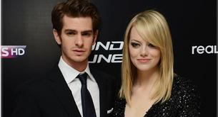 Emma Stone y Andrew Garfield en la premiere de 'The Amazing Spiderman'