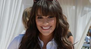 Lea Michele ('Glee') enseña escote a Cory Monteith
