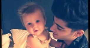 Los chicos de One Direction se ponen paternales con Baby Lux