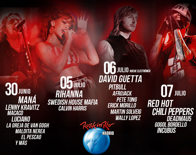 Rihanna y Red Hot Chili Peppers estarán en el Rock In Rio Madrid 2012