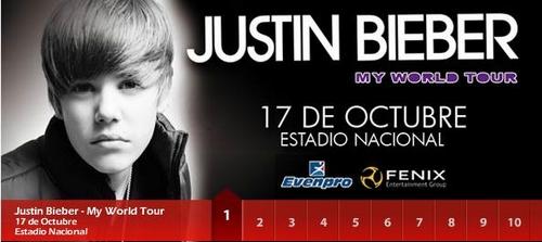 Precios de Entradas de Justin Bieber en Lima